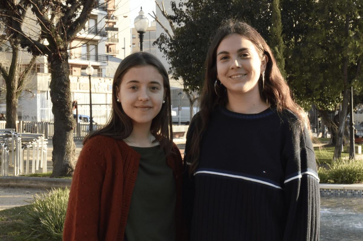Clàudia López i Gemma Tomàs de 'Fridays for future'