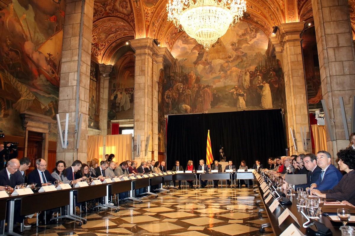 Reunió entre administracions i actors econòmics a la Generalitat