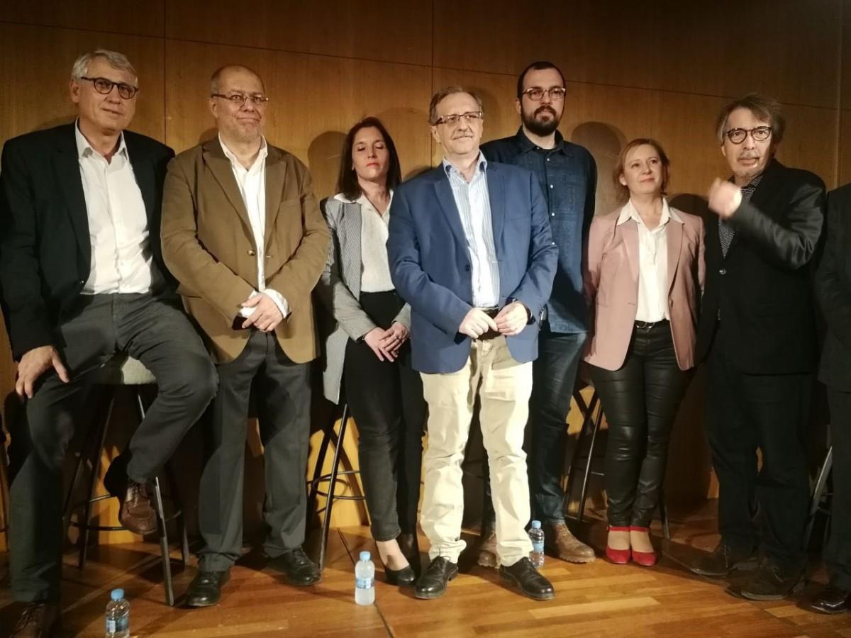 Francisco Igea, segon per l'esquerra, en un acte recent a Barcelona, amb els diputat de Cs Sergio Sanz i Antonio Mestre, entre d'altres.