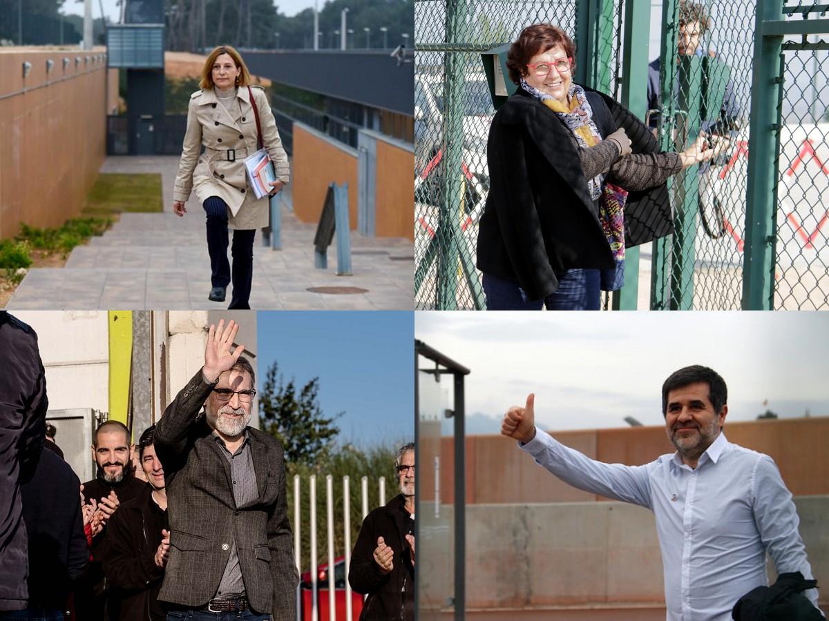 Forcadell, Bassa i Cuixart han començat a sortir de la presó en aplicació del 100.2, i Sànchez ho farà en els pròxims dies
