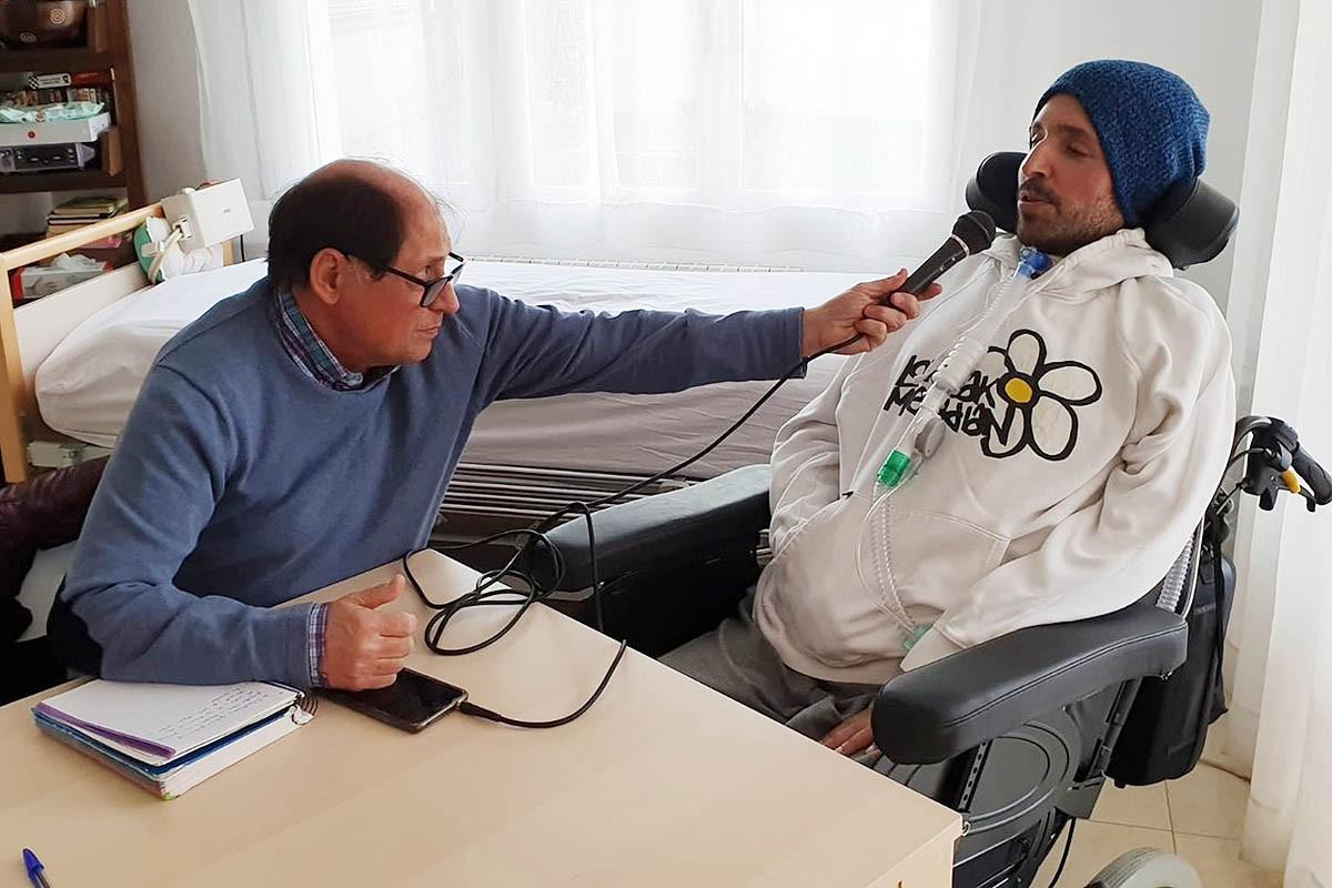 Armando Folgado, durant l'entrevista a Nació Baix Montseny