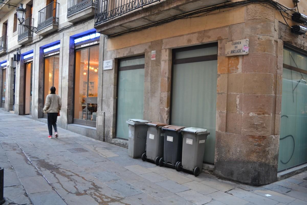 El carrer de l'Anisadeta, el més curt de Barcelona