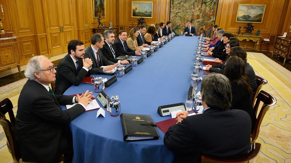 Imatge del Consell de Ministres d'aquest dimarts al palau de la Zarzuela