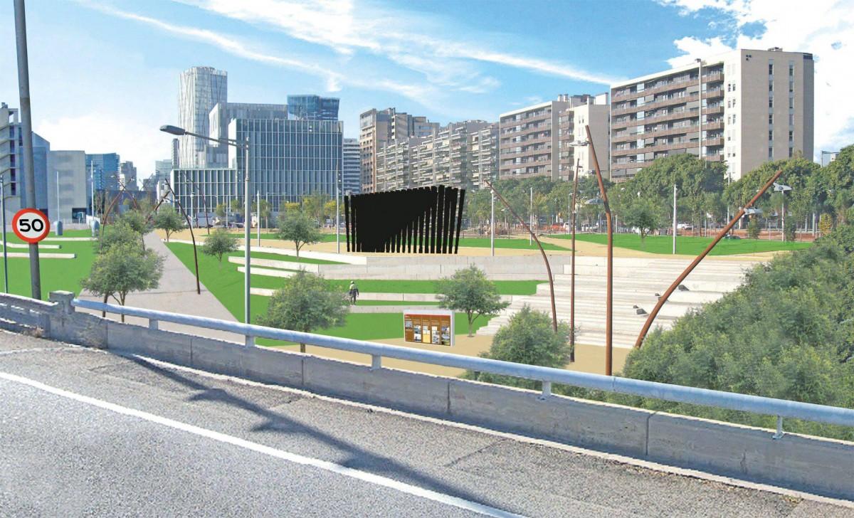 El futur monument per recordar els afusellats al Camp de la Bota