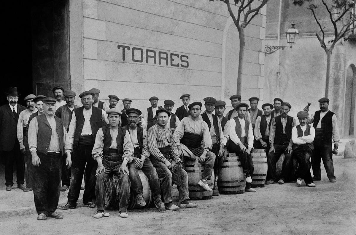 Treballadors de Torres a principis del segle XX
