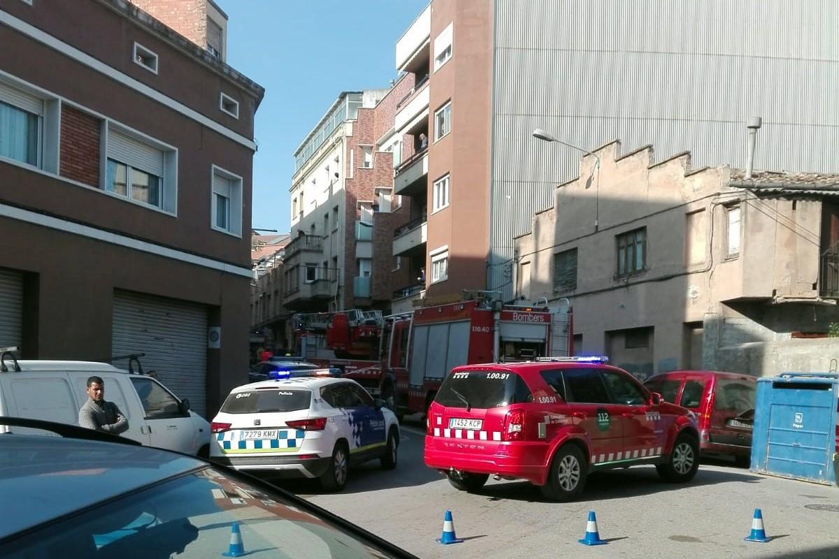 Intervenció dels Bombers durant l'incendi