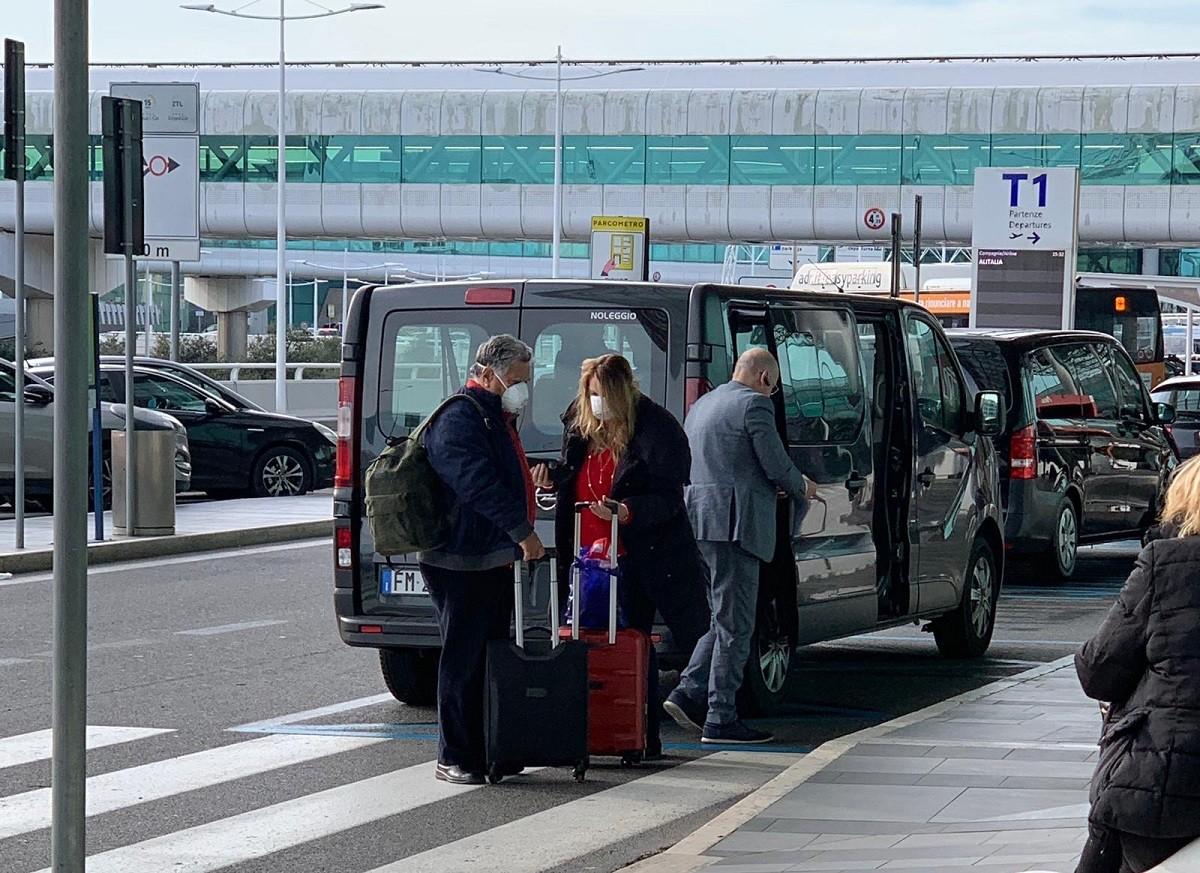 Imatge de l'Aeroport de Roma (Fiumicino) aquest diumenge