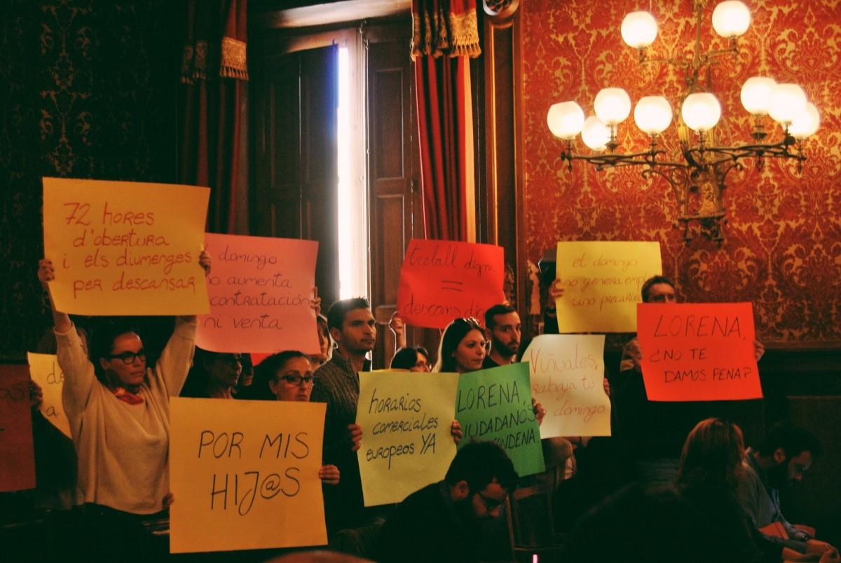 La protesta dels comerciants al Ple Municipal de Tarragona