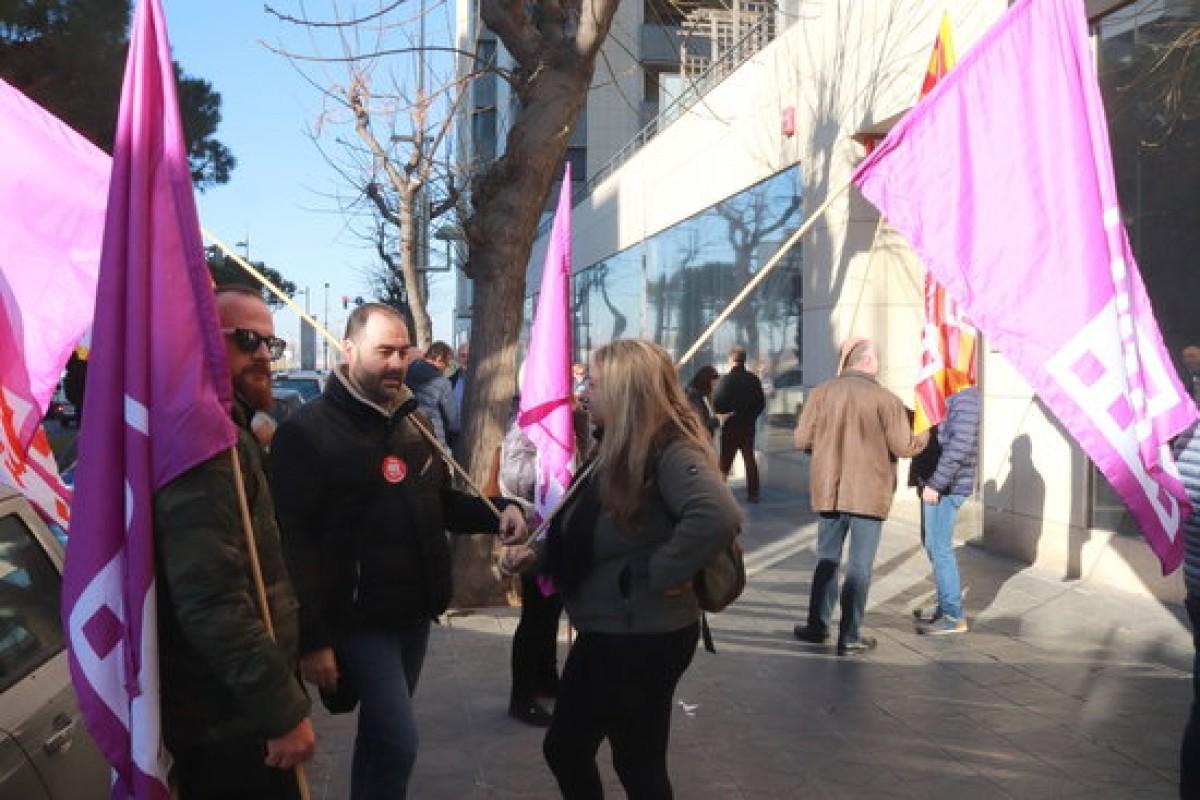 La protesta dels treballadors d'aquest matí