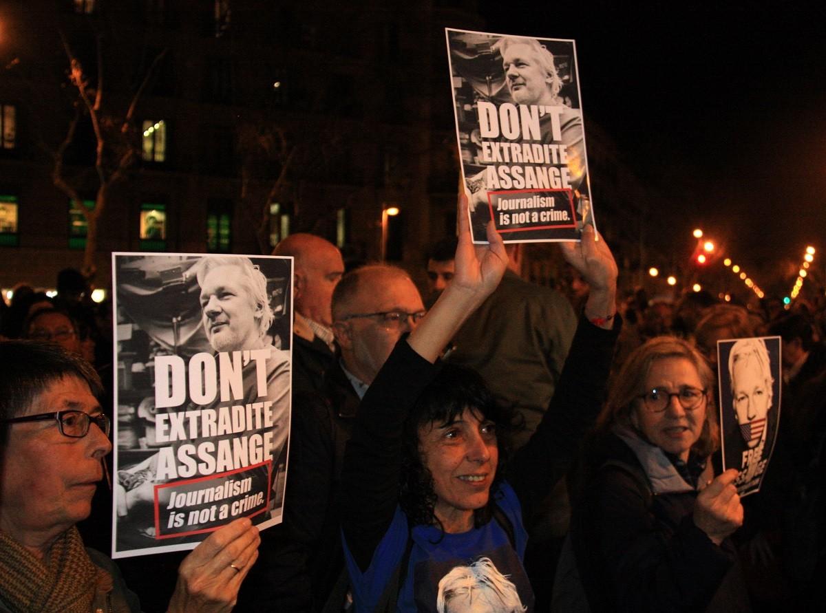 Assistents a la mobilització convocada per l'Assemblea Nacional Catalana a Barcelona