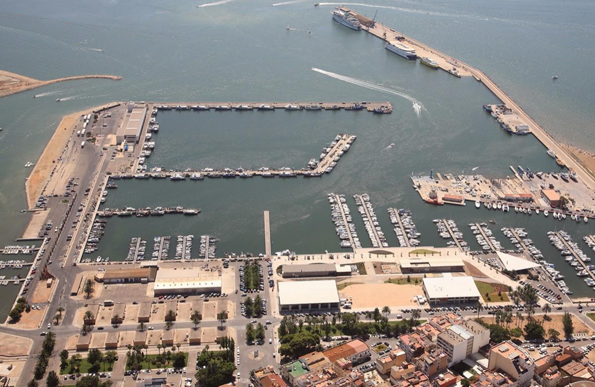 Imatge aèria del port de la Ràpita.