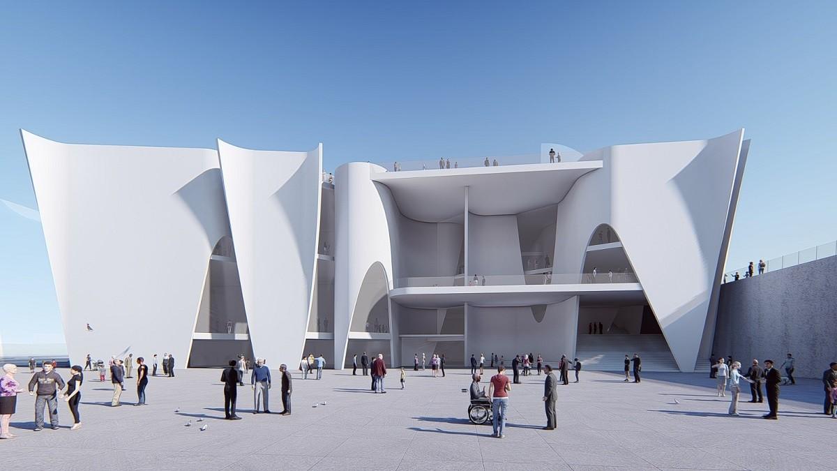 Visió del projecte d'edifici de l'Hermitage Barcelona