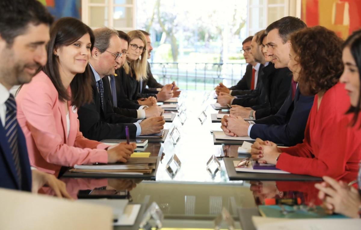 Primera reunió de la taula de diàleg a la Moncloa