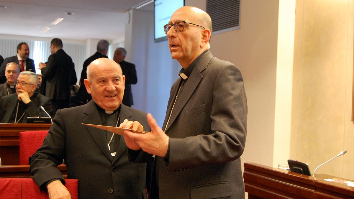 El cardenal Omella, a la seu de la CEE a Madrid.ssemblea plenària de la Conferència Episcopal Espanyola.