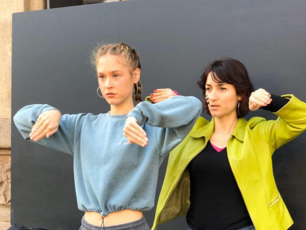 Imatge de l'enregistrament del videoclip