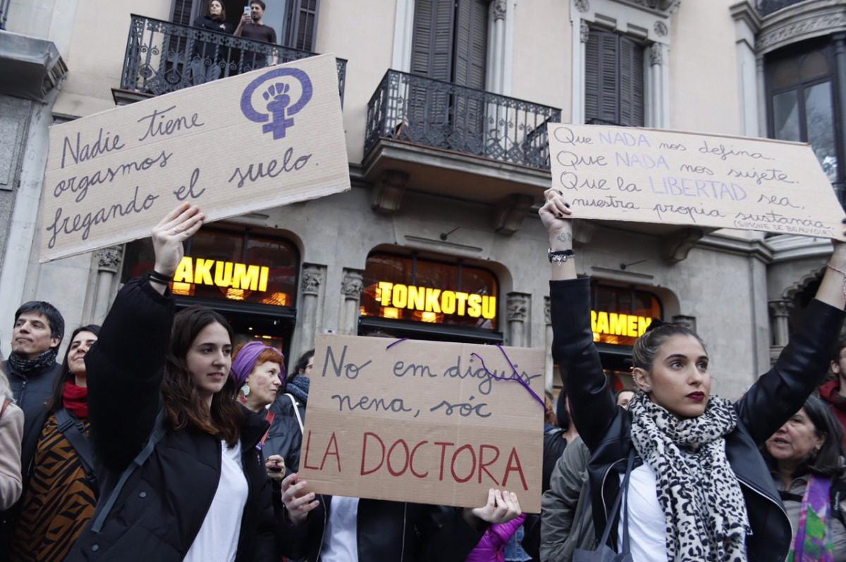 Manifestació del 8-M a Barcelona el 2020