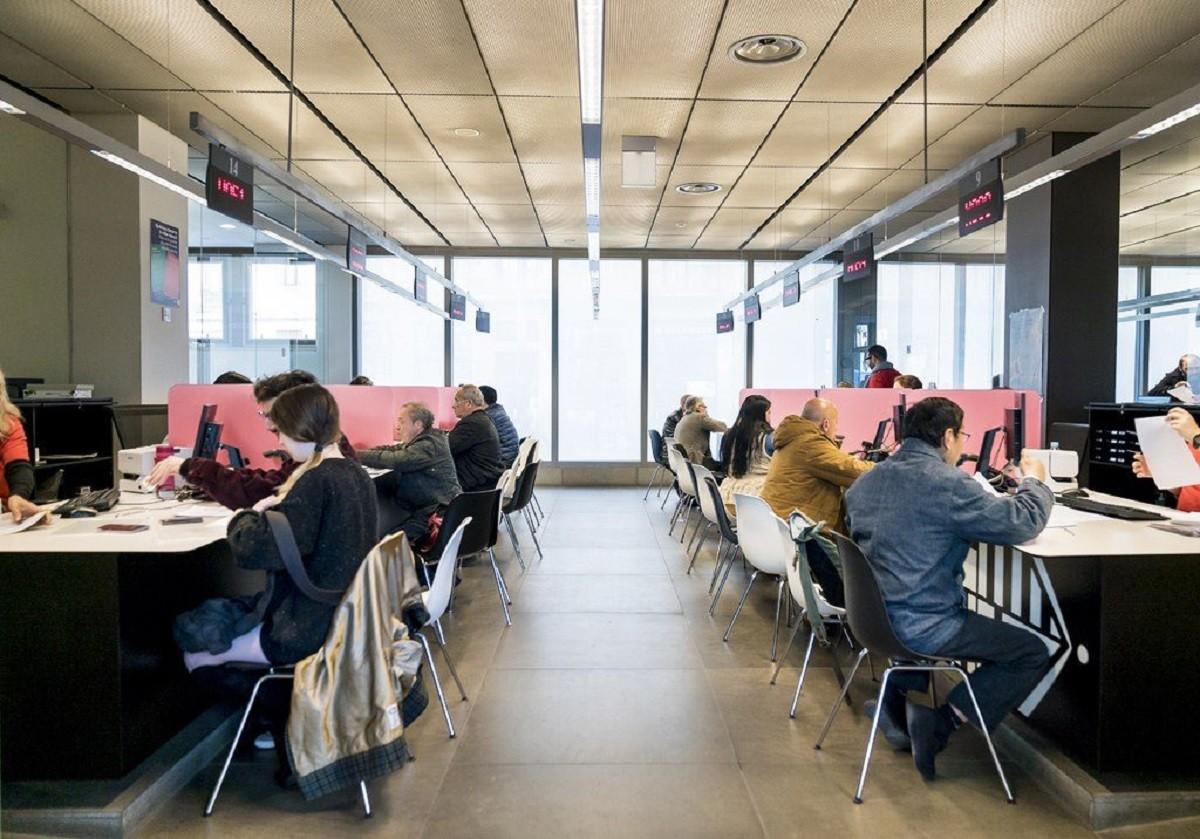 Una Oficina d'Atenció a la Ciutadania de Barcelona