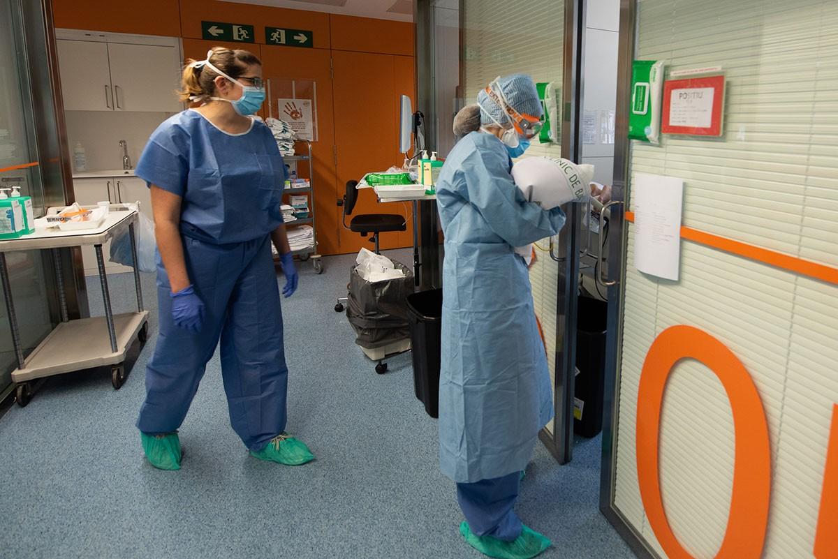 Professionals sanitaris d'un hospital
