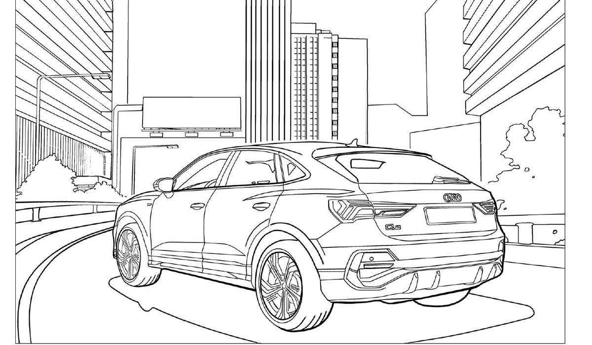Audi convida als més petits a entretenir-se acolorint els seus models més emblemàtics