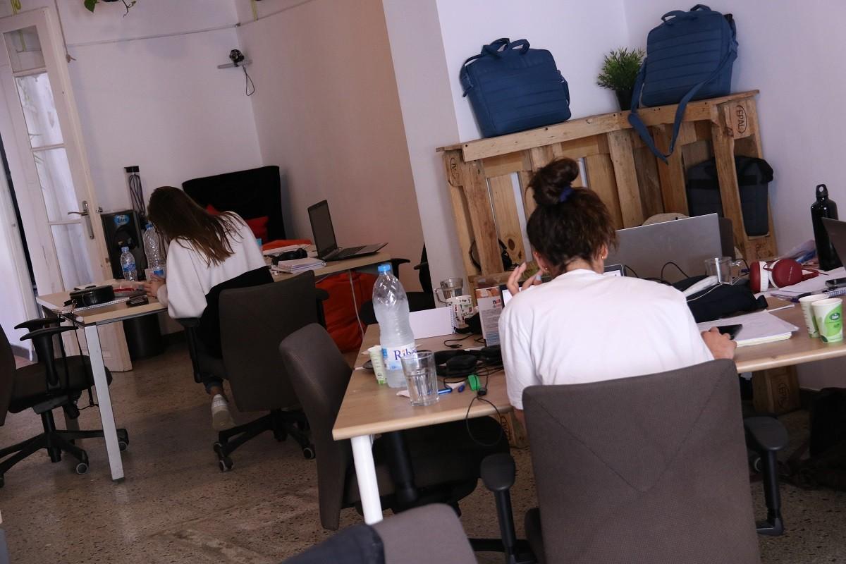 Un espai de treball del 22@ a Barcelona