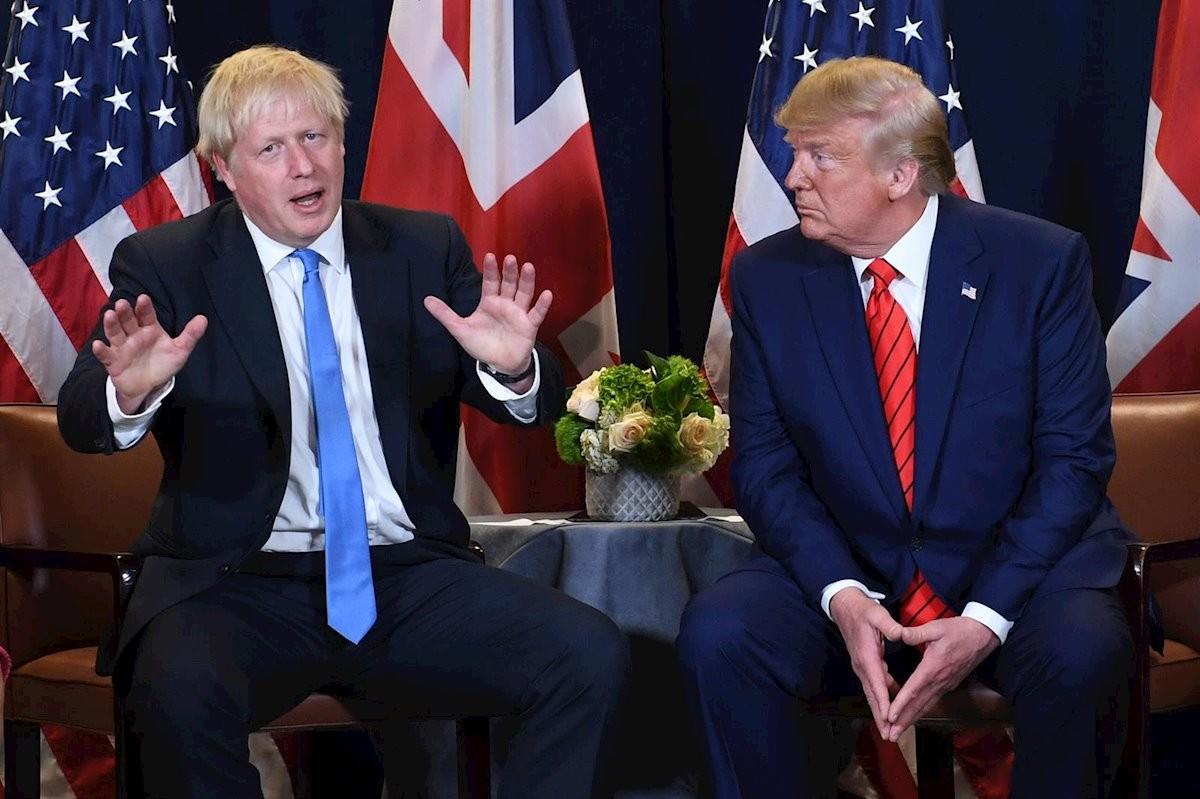 Donald Trump i Boris Johnson, en una imatge d'arxiu