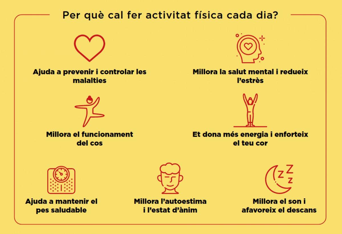 Infografia general de la campanya «Gent activa des de casa»