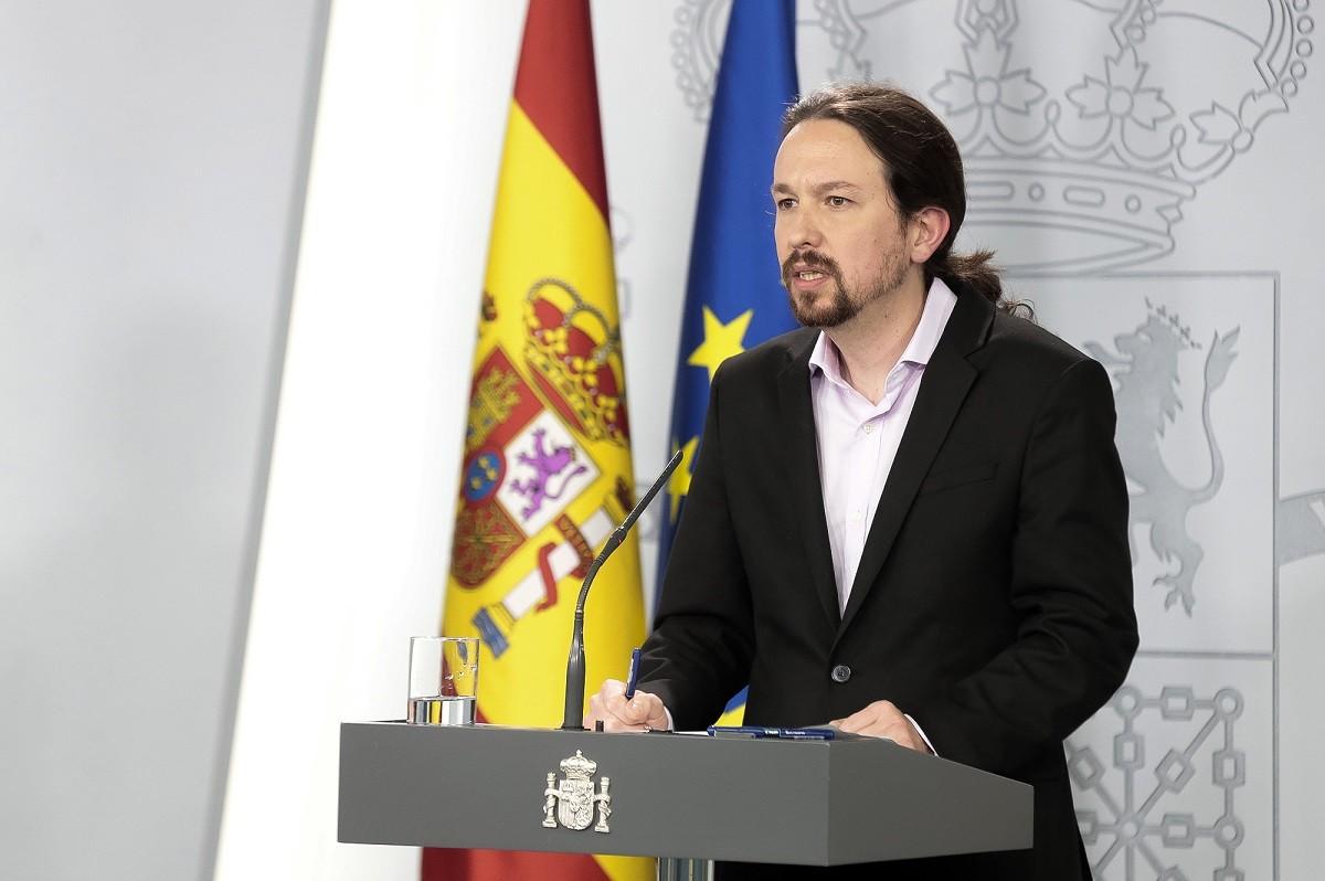 El vicepresident del govern espanyol, Pablo Iglesias