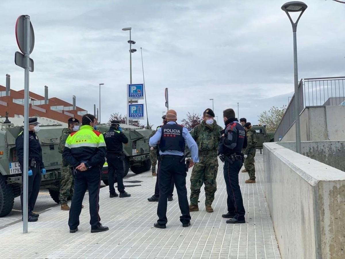 La presència de l'exèrcit s'ha fet més habitual aquests dies.