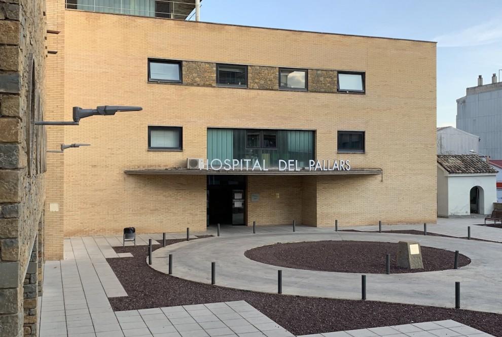 Entrada principal a l'Hospital Comarcal del Pallars