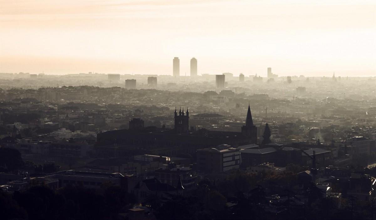 Aire contaminat a Barcelona