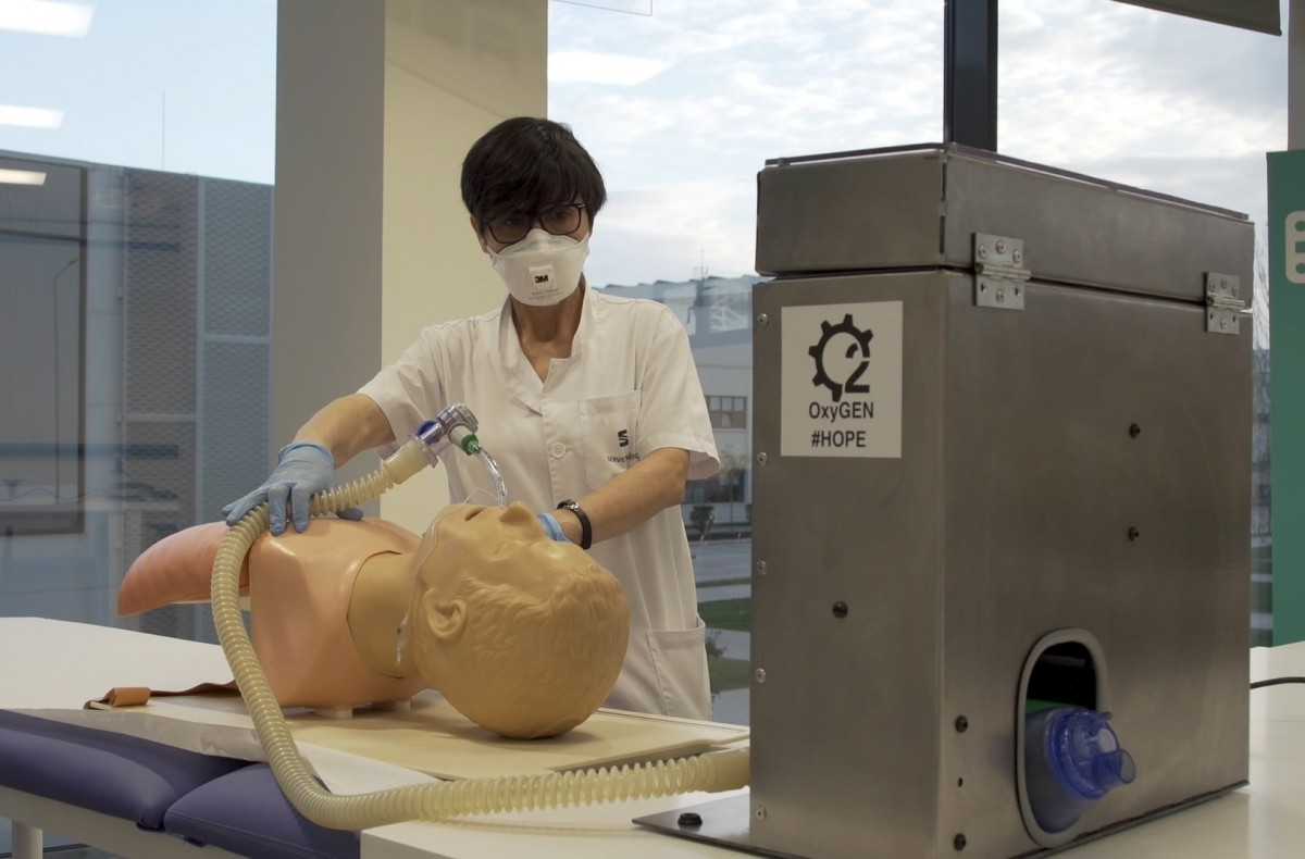 Un respirador creat a la fàbrica de Seat.