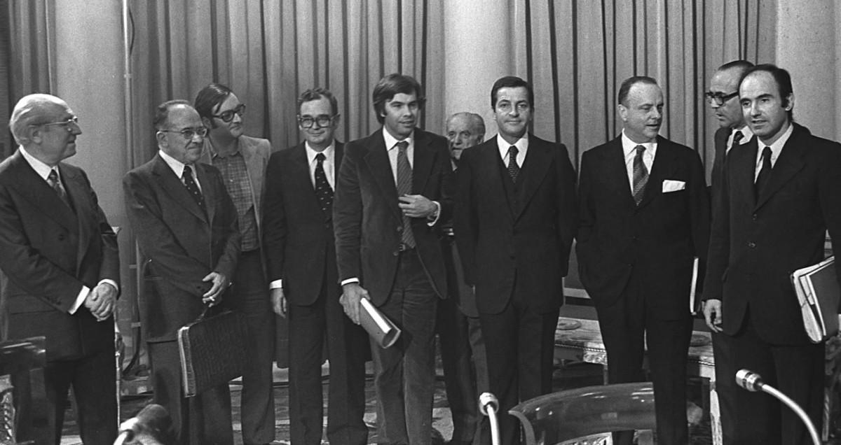 Els signants dels Pactes de la Moncloa