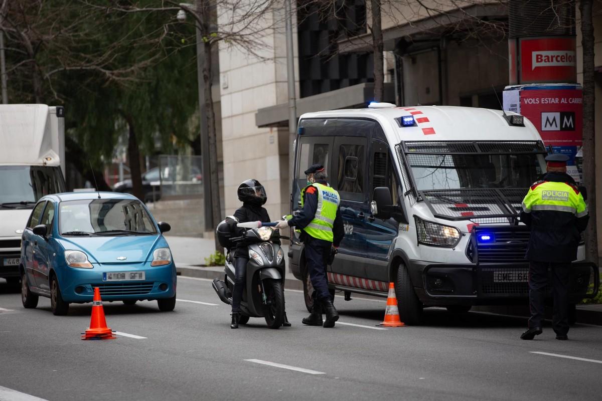 Control policial a Barcelona durant l'estat d'alarma