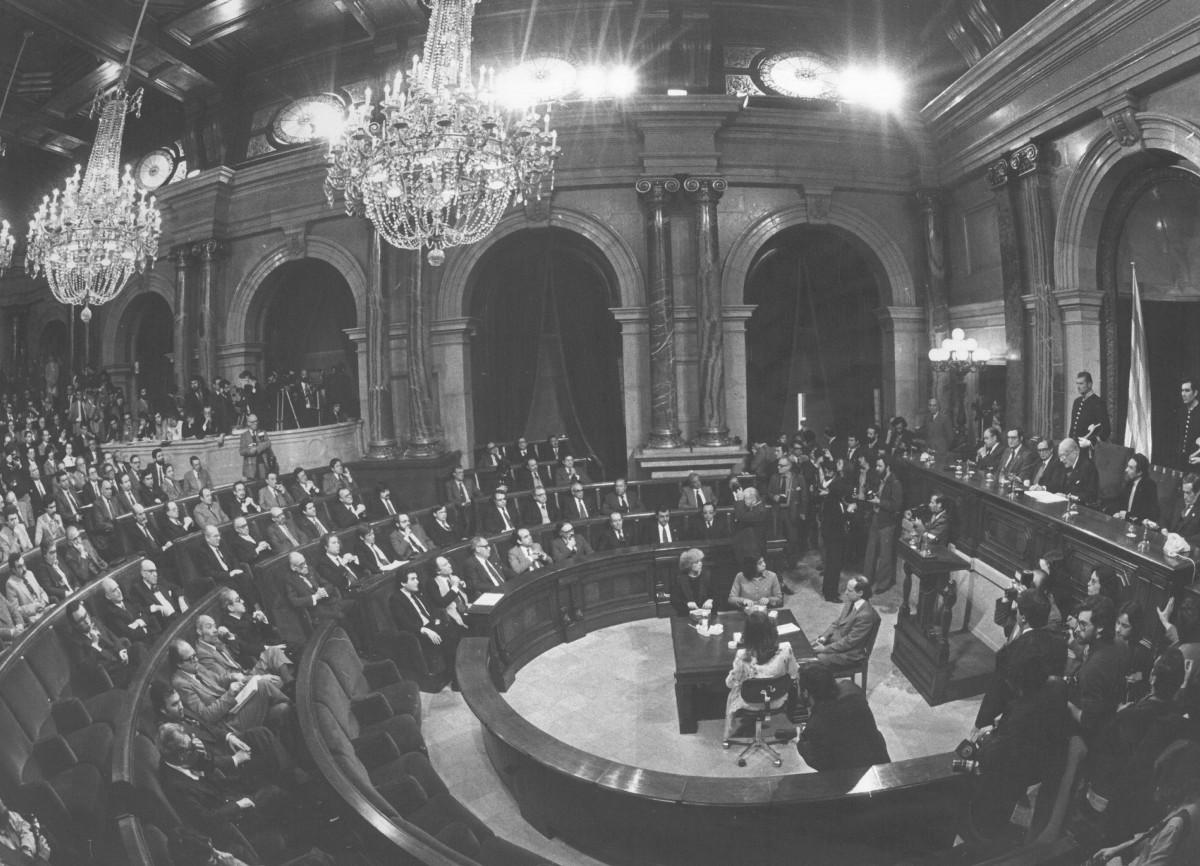 Ple d'obertura del Parlament el 10 d'abril de 1980.