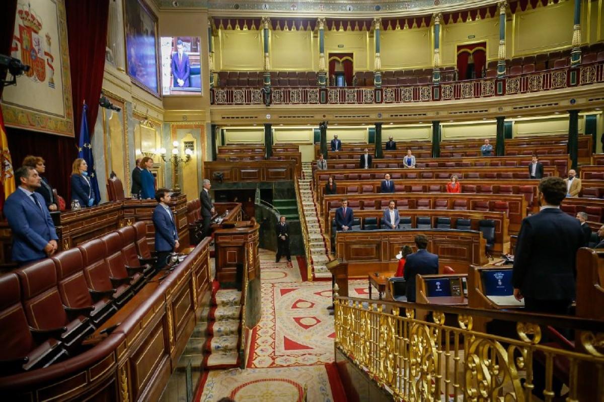 El Congrés dels Diputats, aquest dijous durant la votació de la pròrroga de l'estat d'alarma