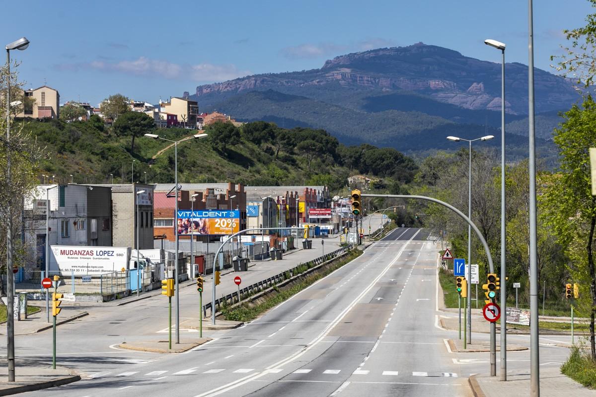 Sabadell, buit durant el primer estat d'alarma.