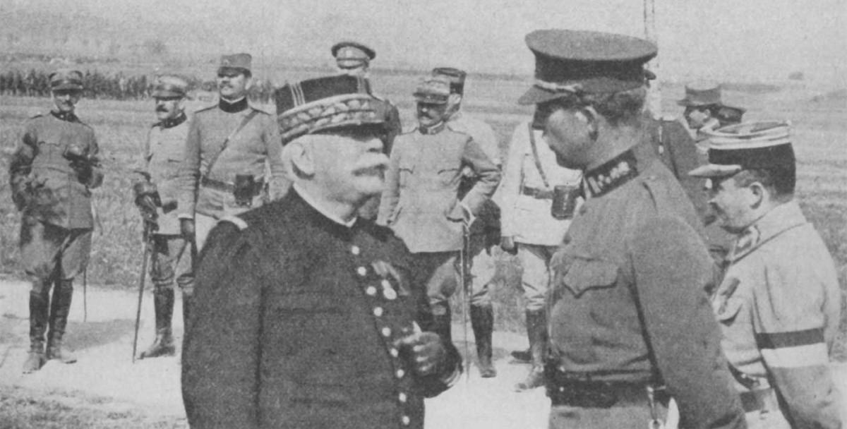 El mariscal Joffre i Albert I, rei dels Belgues, la tardor de 1914.