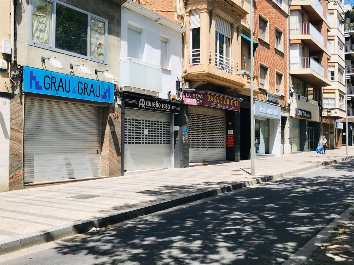 Botigues tancades a la Rambla