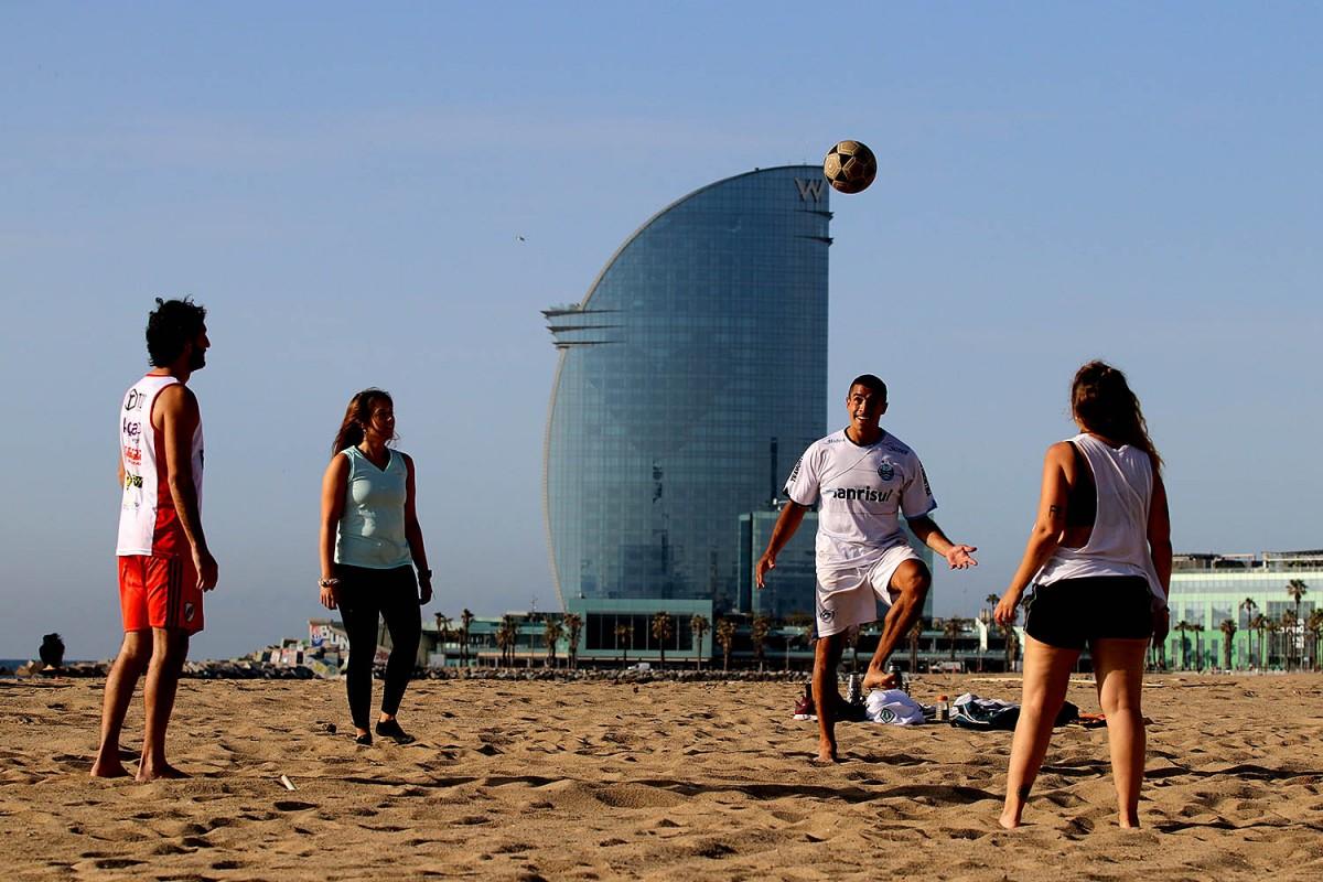 Les platges de Barcelona, en una imatge d'aquest mes de maig
