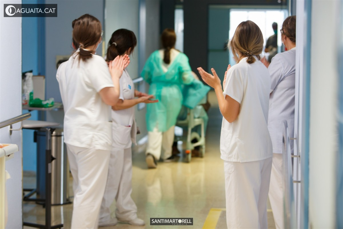 Planta on es troben ingressats els pacients amb Covid-19 al Verge de la Cinta
