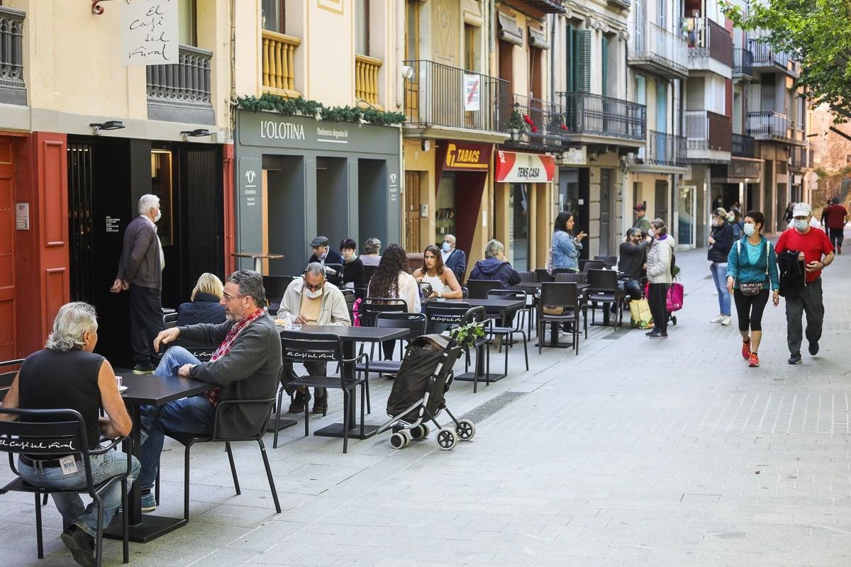 L'Ajuntament d'Olot ja va autoritzar l'ampliació de l'espai dedicat a terrasses.