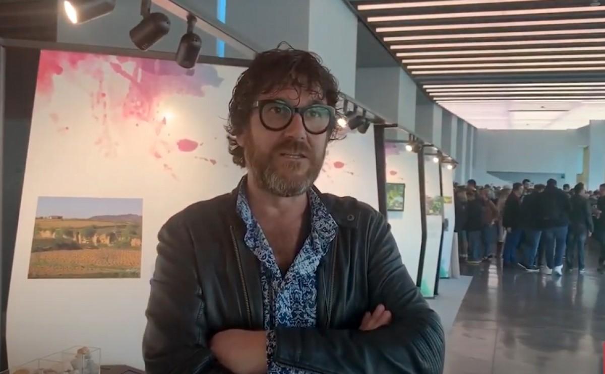 Joan Arrufí, en una de les presentacions que la DO Terra Alta va fer el 2019 a Barcelona.