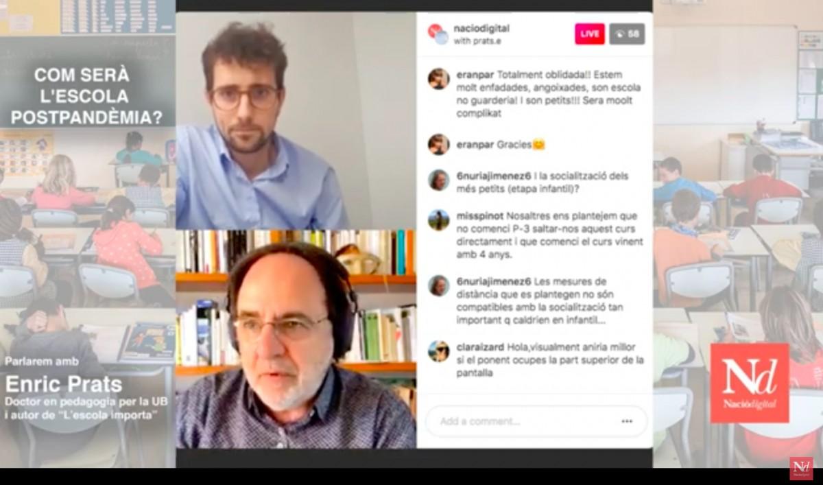 Un moment de la conversa amb Enric Prats.