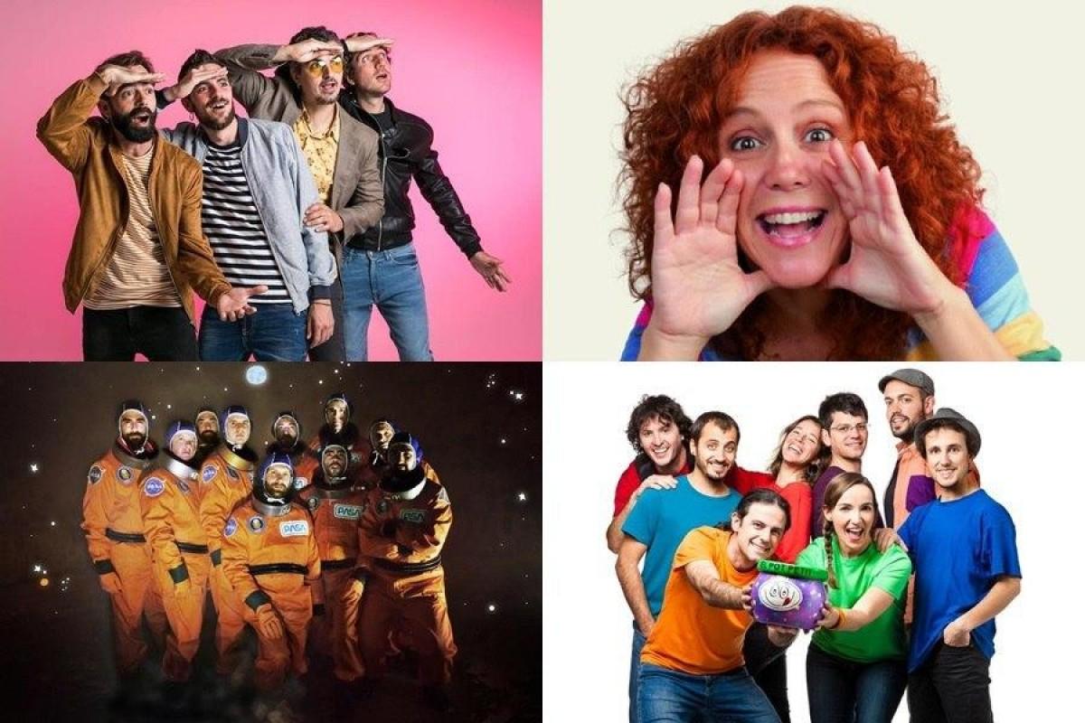Els quatre grups impulsors del Us Estrimem Fest.