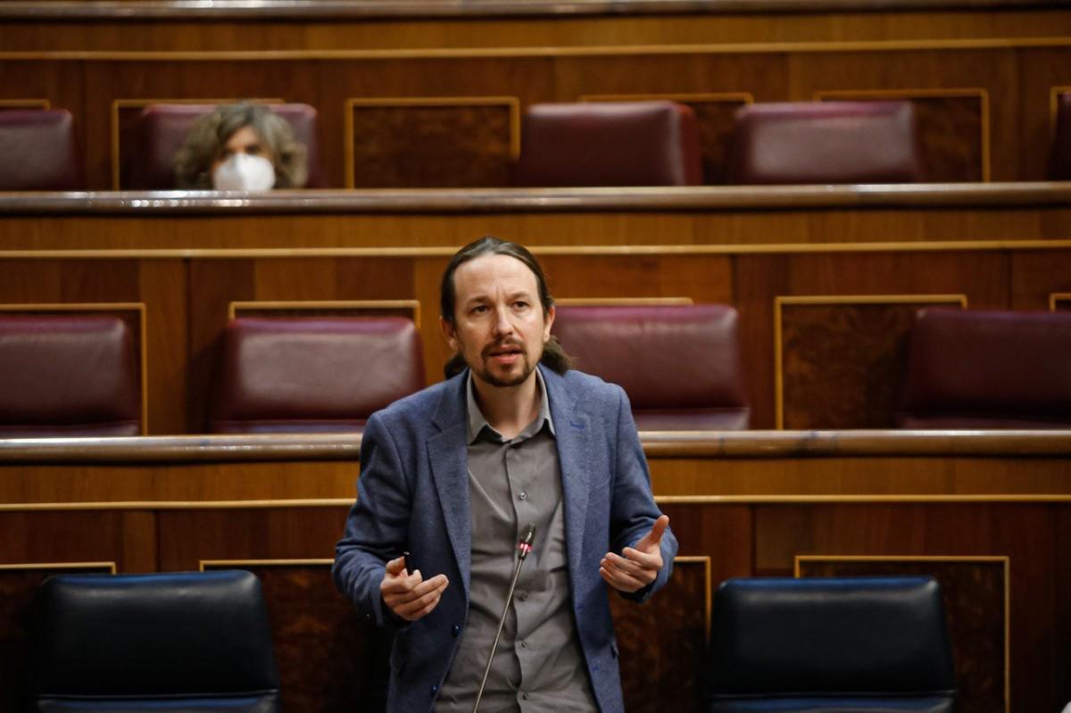 Pablo Iglesias, a la sessió de control de dimecres al Congrés.