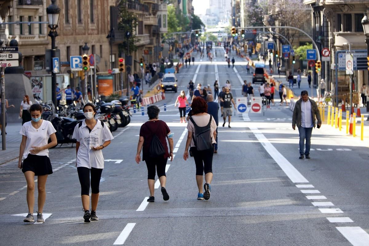 La Via Laietana, aquest dissabte