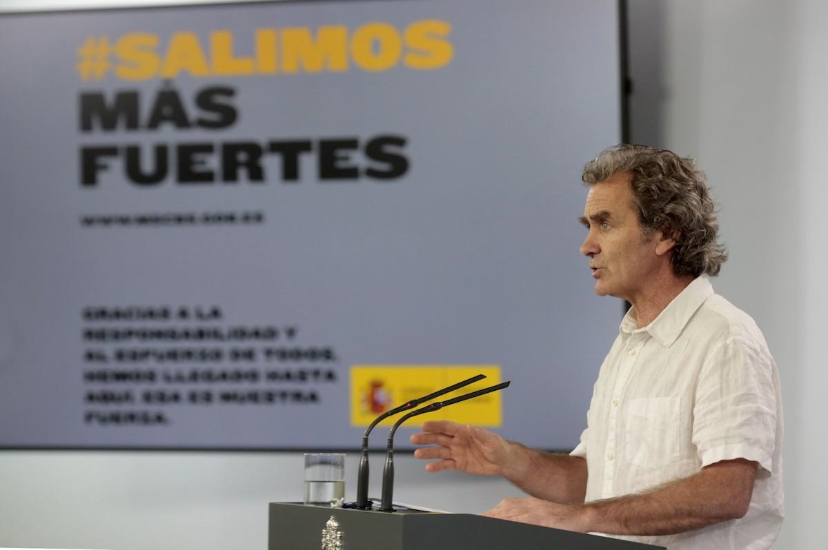 Fernando Simón en la roda de premsa d'aquest dilluns