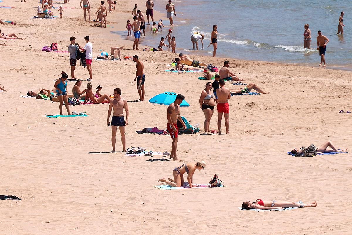 Una platja de Tarragona, aquest dimarts