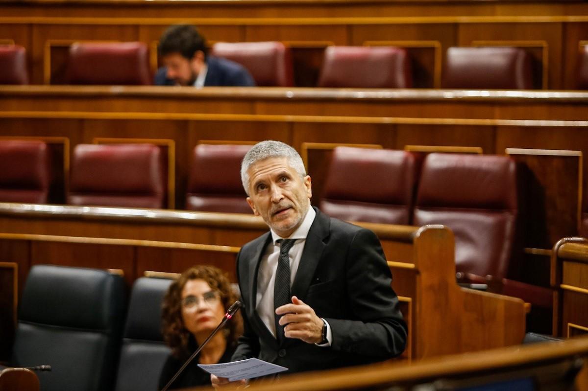El ministre de l'Interior, Fernando Grande-Marlaska, al Congrés