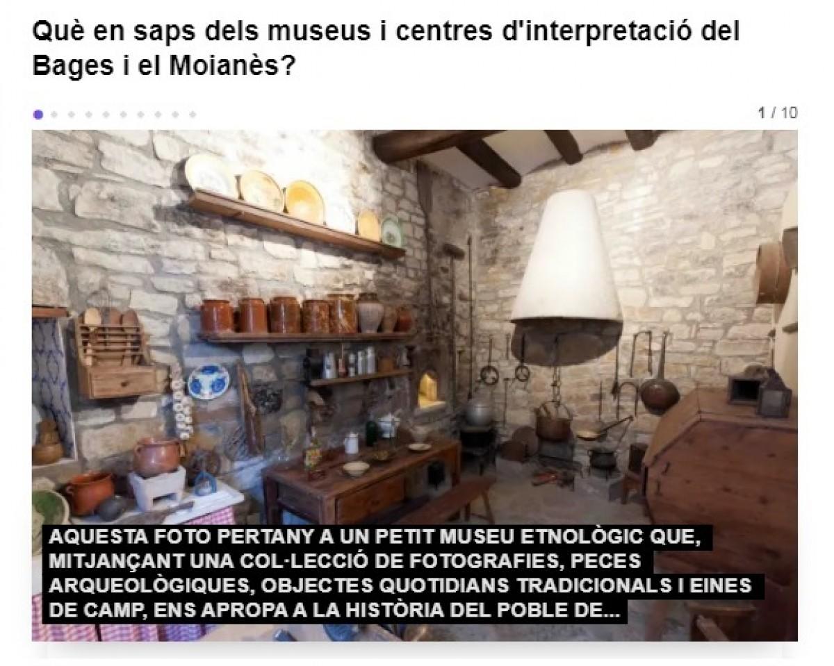 Què en saps dels museus i centres d'interpretació del Bages i el Moianès?